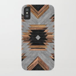 Urban Tribal Pattern No.6 - Aztec - Concrete and Wood iPhone Case