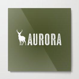 Deer: Aurora, Colorado Metal Print