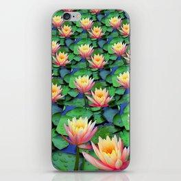 Fractal Flowing Water Lilies iPhone Skin