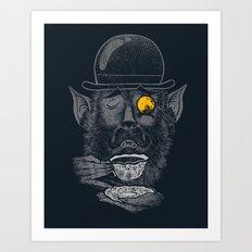 a british gentleman werewolf  Art Print