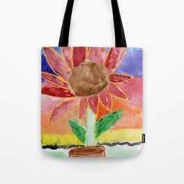 Flower in the Sunset Tote Bag