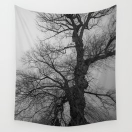Nature Photography Weeping Willow | Lungs of the Earth | Black and White Wall Tapestry