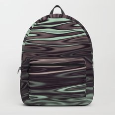 Ripples Fractal in Mint Hot Chocolate Backpack
