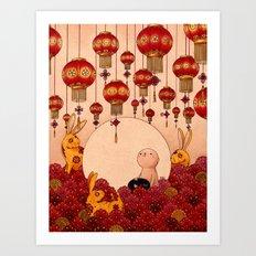 Mid Autumn Festival Art Print