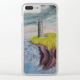 No. 4, Earthen Island Clear iPhone Case