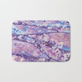 Violet and pink marble texture Bath Mat