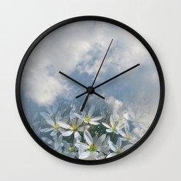 Window Curtains - Morning Fresh Wall Clock