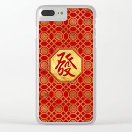 Prosperity Feng Shui Symbol  in bagua shape Clear iPhone Case