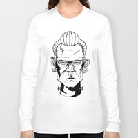frankenstein Long Sleeve T-shirts featuring Frankenstein by Diseños Fofo