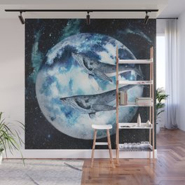 Flying Whales Wall Mural