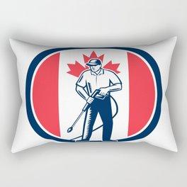 Canada Pressure Washing Flag Circle Retro Rectangular Pillow