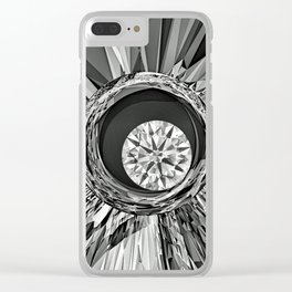Diamond in Wire Clear iPhone Case