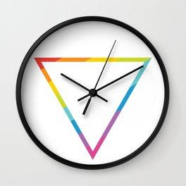 Pride: Rainbow Geometric Triangle Wall Clock