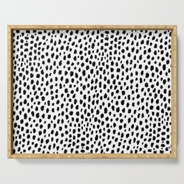 Dalmatian Spots (black/white) Serving Tray