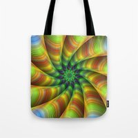 fractal Tote Bags featuring Fractal by David Zydd