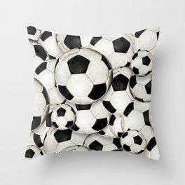 Dirty Balls - footballs Throw Pillow