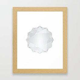 Poly Constellation (White) Framed Art Print
