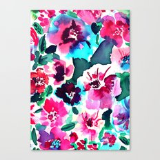 Zoe Floral Pink Canvas Print