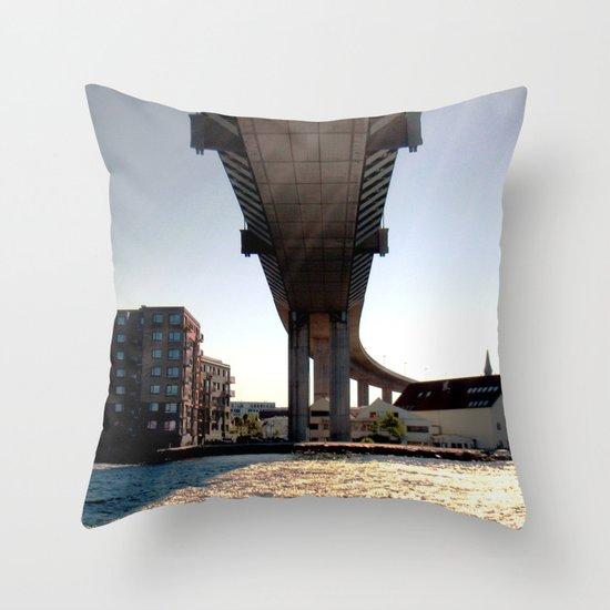 bridge turns. Throw Pillow