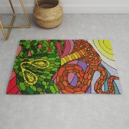 Clash of the Cobras Rug