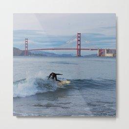 Surfing at China Beach Metal Print