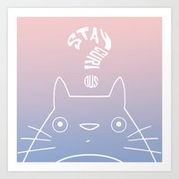Stay Curious | Serenity & Rose Quartz Art Print