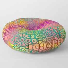 DP050-2 Colorful Moroccan pattern Floor Pillow