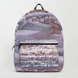 Violet brown hand-drawn wash drawing Backpack