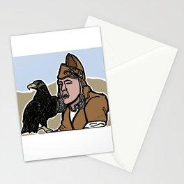 Mongolian Falconer Stationery Cards