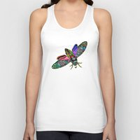 goth Tank Tops featuring Goth Moth by Jan4insight