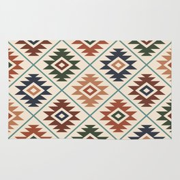 Aztec Symbol Pattern Col Mix Rug