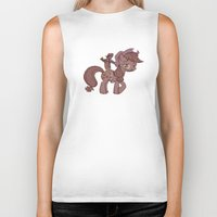 my little pony Biker Tanks featuring My Little Remington Pony by Ancora Imparo
