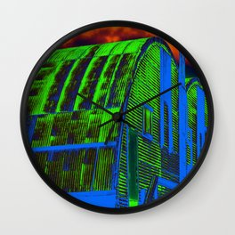 Storage Barn in Color Wall Clock