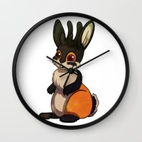 jackalope Wall Clocks featuring Jackalope by JoJo Seames