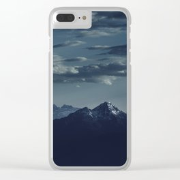 Lonely peak of the mountains Clear iPhone Case