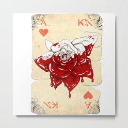 Bloody rose Metal Print
