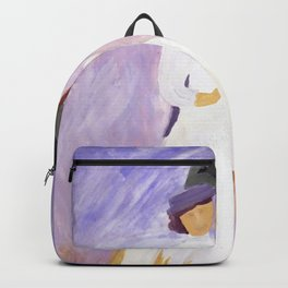 lady in white Backpack