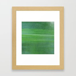 Abstract modern lime forest green stripes pattern Framed Art Print