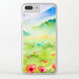 Spring Scenery #4 Clear iPhone Case