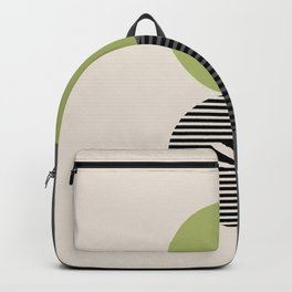 Geomertic Art N21072 Green Gray Backpack