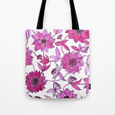 small pink flowers Tote Bag