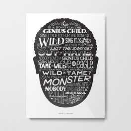 Genius Child Metal Print