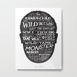 Genius Child Metal Print