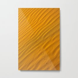 Patterns in the sand at Sossusvlei reserve in Namibia - Portrait Metal Print