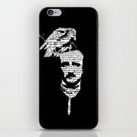 edgar allan poe iPhone & iPod Skins featuring Edgar Allan Poe collage by GraphicDivine