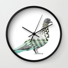 Tessellated Pigeon Wall Clock