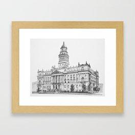 Wayne County Court House | Detroit Michigan Framed Art Print