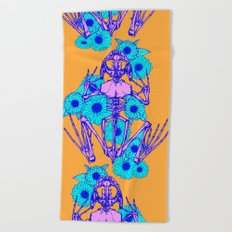 Frog Skeleton Beach Towel