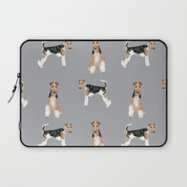 Wire Fox Terrier dog breed pure breed dog lover gifts Laptop Sleeve