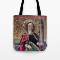 spain Tote Bags featuring old Spain by oxana zaika